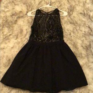 Black cocktail sequin dress